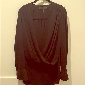 Unworn elegant BCBG black shirt